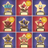 Mini Star Trophies - Ideal for Sporting and Academic Activities