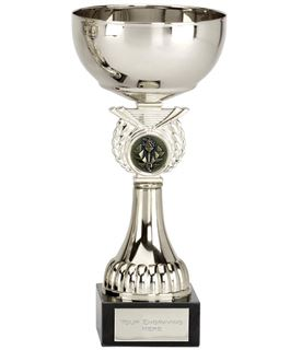 """Crusader Silver Presentation Cup with Centre Disc 15cm (6"""")"""