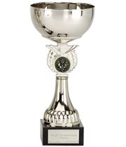 """Crusader Silver Presentation Cup with Centre Disc 17cm (6.75"""")"""