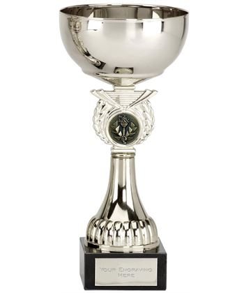 "Crusader Silver Presentation Cup with Centre Disc 20.5cm (8"")"