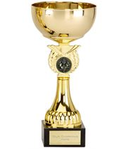 """Crusader Gold Presentation Cup with Centre Disc 20.5cm (8"""")"""