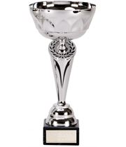 """Silver Cygnus Trophy Cup with Black Trim 23cm (9"""")"""