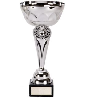 """Silver Cygnus Trophy Cup with Black Trim 25.5cm (10"""")"""