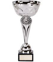 """Silver Cygnus Trophy Cup with Black Trim 29cm (11.5"""")"""