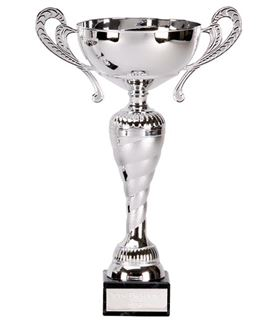 "Silver Trophy Cup with Spiral Stem 25cm (9.75"")"