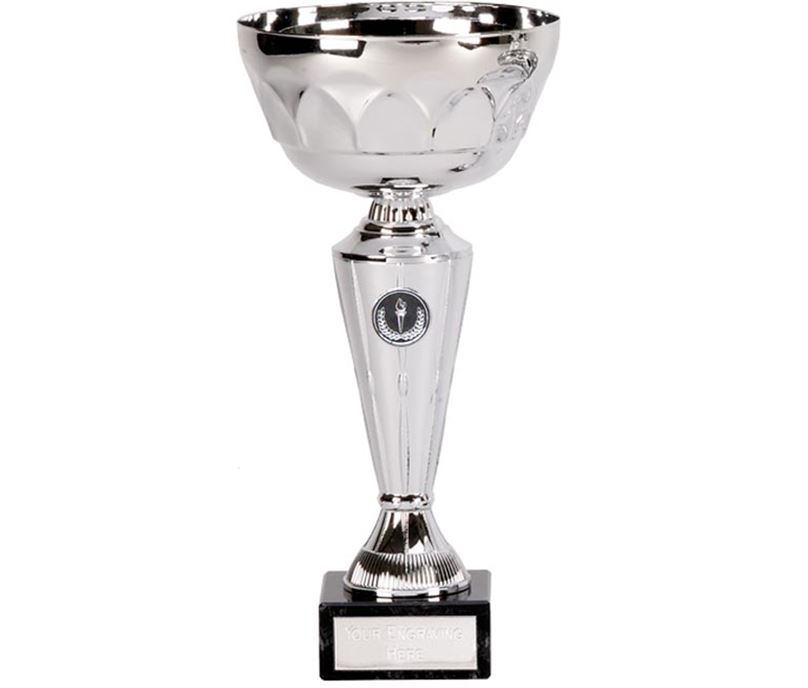 """Silver Presentation Cup with Patterned Bowl 23cm (9"""")"""