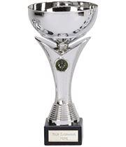 "Plain Bowl Flair Column Trophy Cup on Marble Base 19.5cm (7.75"")"
