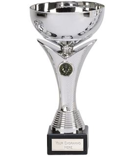 "Plain Bowl Flair Column Trophy Cup on Marble Base 23cm (9"")"
