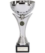 "Plain Bowl Flair Column Trophy Cup on Marble Base 28cm (11"")"