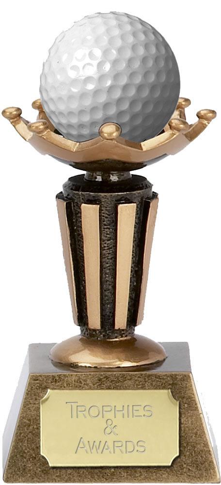 "Golf Ball Holder Trophy on Decorative Base 9.5cm (3.75"")"