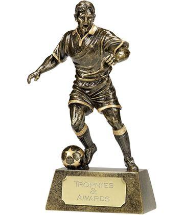 "Antique Gold Pinnacle Footballer Trophy 24cm (9.5"")"