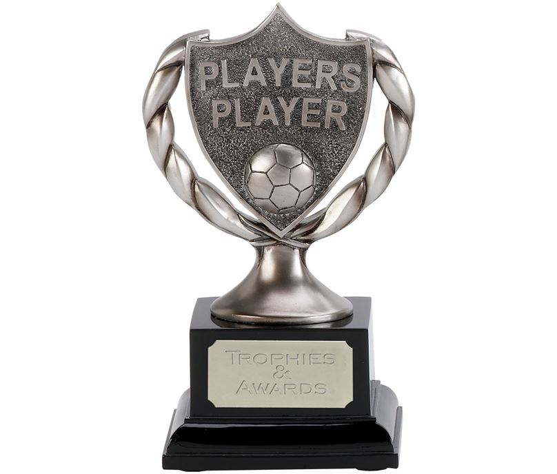 "Satin Silver Players Player Trophy 17cm (6.75"")"