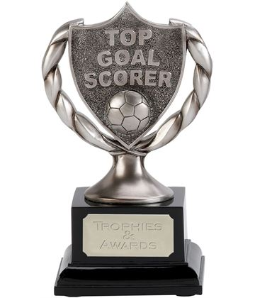 "Satin Silver Top Goal Scorer Trophy 17cm (6.75"")"