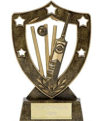 "Shield Star Cricket Trophy 15cm (6"")"