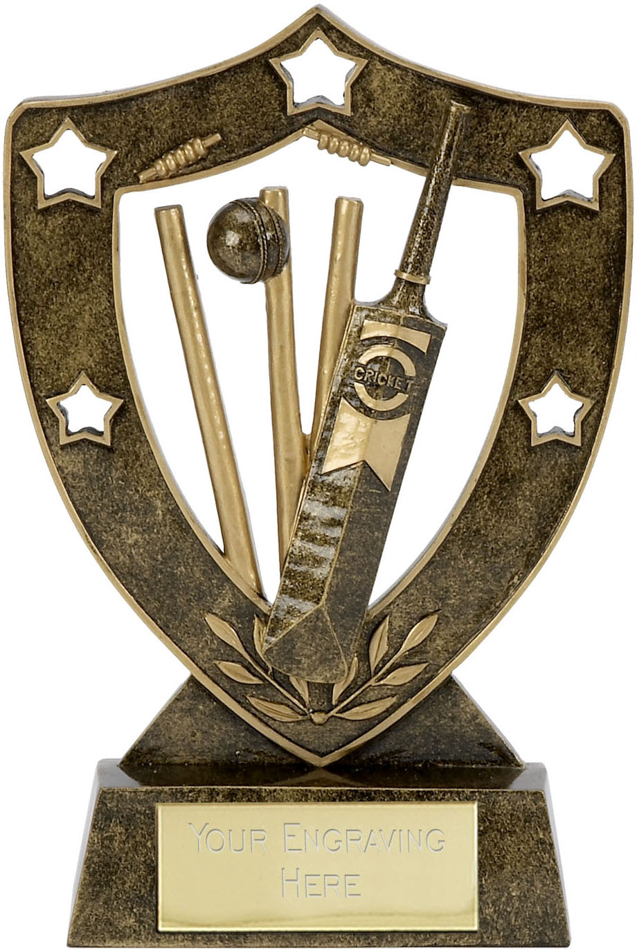"Shield Star Cricket Trophy 20.5cm (8"")"