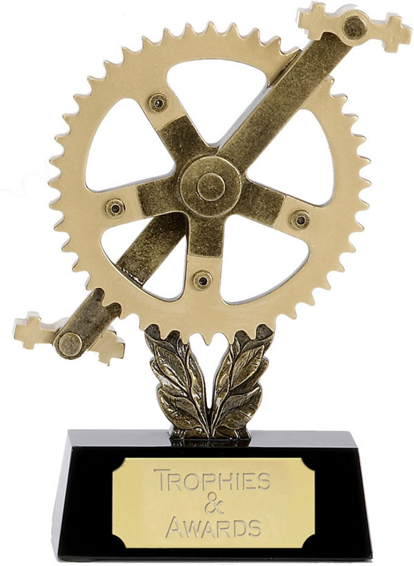 """Cog and Pedals Cycling Trophy 15cm (6"""")"""