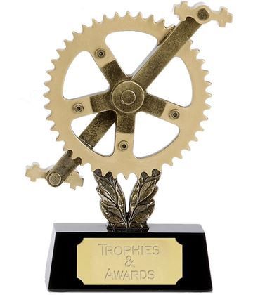 "Cog and Pedals Cycling Trophy 15cm (6"")"
