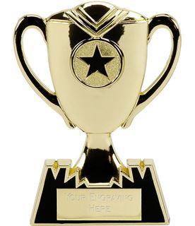 "Metal Cup Plaque Award in Gold 12.5cm (5"")"