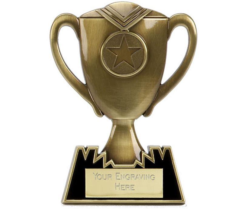 """Metal Cup Plaque Award in Bronze 12.5cm (5"""")"""