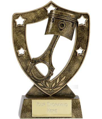 """Piston Shield Star in Gold 20.5cm (8"""")"""