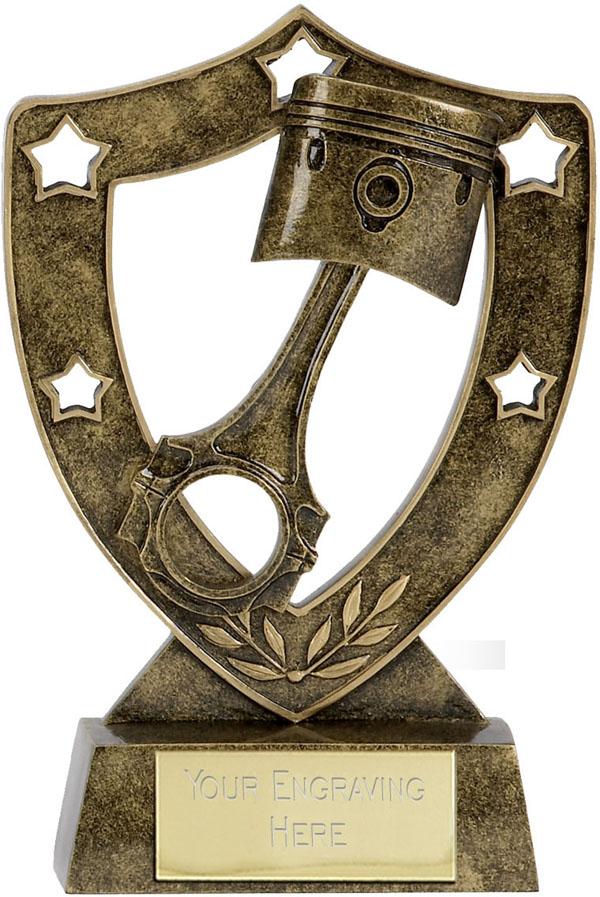 """Piston Shield Star in Gold 12.5cm (5"""")"""