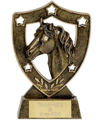"Horse and Pony Shield Stars Trophy 12.5cm (5"")"