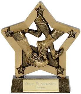 "Economy Stars Running Trophy Antique Gold 12.5cm (5"")"