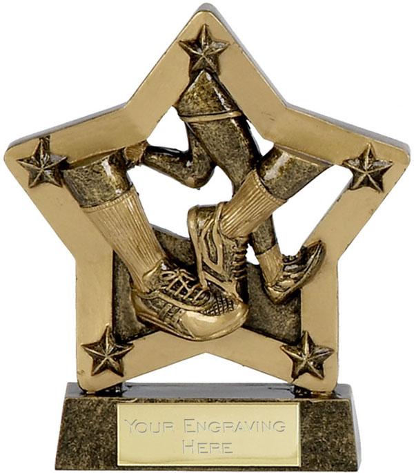 "Economy Stars Running Trophy Antique Gold 12.5cm (5"")"