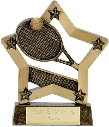 "Economy Star Tennis Trophy 12.5cm (5"")"
