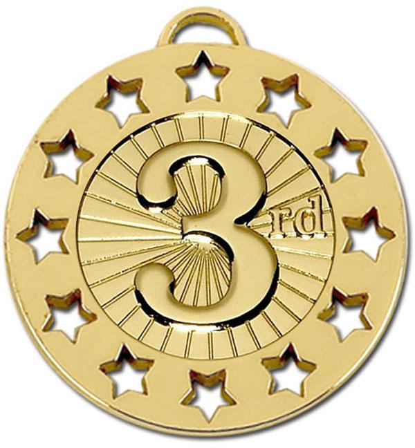"Gold 3rd Spectrum 40 Medal 4cm (1.5"")"