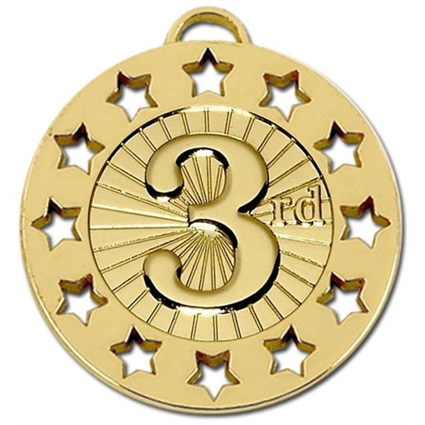 "Gold 3rd Spectrum 40 Medal 40mm (1.5"")"