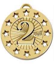 """Gold 2nd Spectrum 40 Medal 40mm (1.5"""")"""