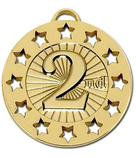 "Gold 2nd Spectrum 40 Medal 40mm (1.5"")"