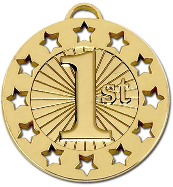 """Gold 1st Spectrum 40 Medal 40mm (1.5"""")"""