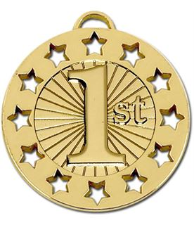 "Gold 1st Spectrum 40 Medal 40mm (1.5"")"