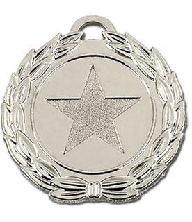 "Silver Mega Star 40 Medal 40mm (1.5"")"