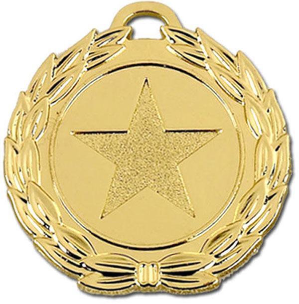 """Gold Mega Star 40 Medal 4cm (1.5"""")"""
