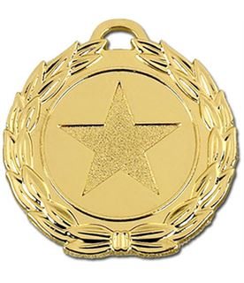 "Gold Mega Star 40 Medal 40mm (1.5"")"
