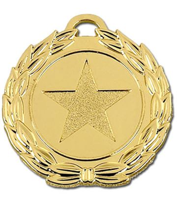 "Gold Mega Star 40 Medal 40mm (1.5"")"