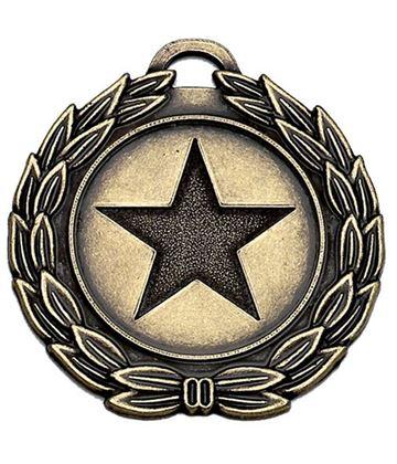 "Bronze Mega Star 40 Medal 40mm (1.5"")"