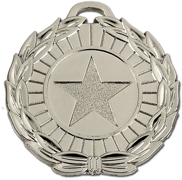 "Silver Mega Star 50 Medal 5cm (2"")"