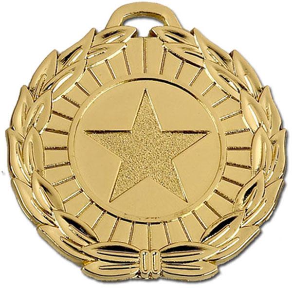 """Gold Mega Star 50 Medal 5cm (2"""")"""