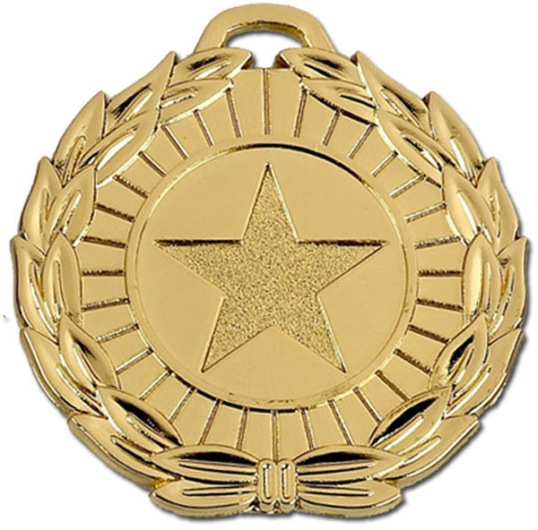 "Gold Mega Star 50 Medal 50mm (2"")"