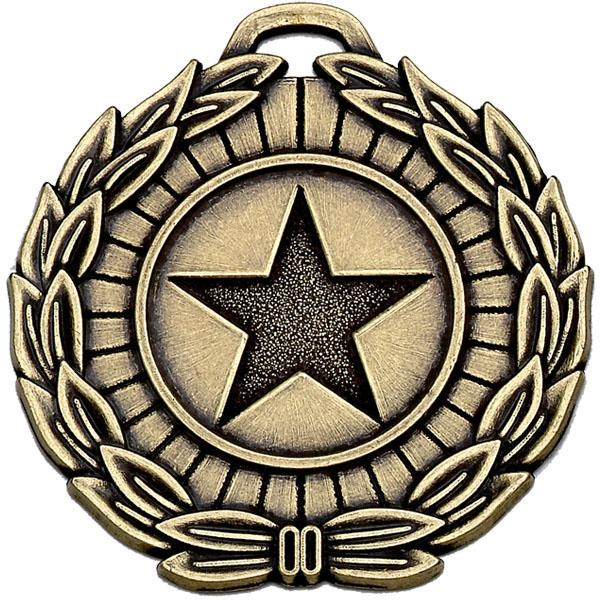 "Bronze Mega Star 50 Medal 5cm (2"")"