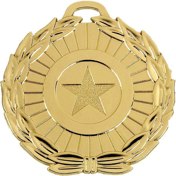 """Gold Mega Star 70 Medal 7cm (2.75"""")"""