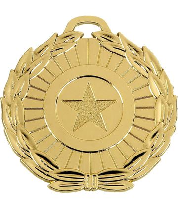 "Gold Mega Star 70 Medal 70mm (2.75"")"