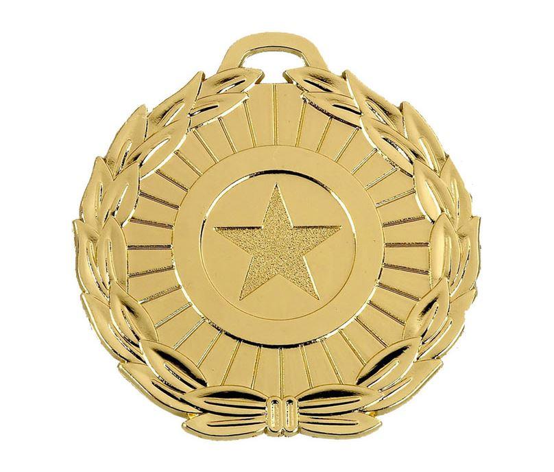 "Gold Mega Star 70 Medal 70mm (2.75"")"