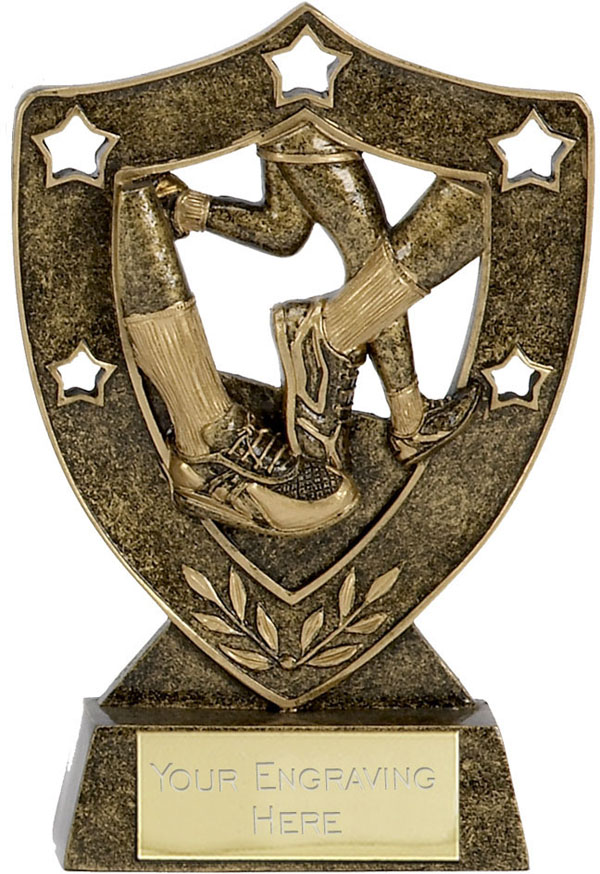 "Running Shield Stars Trophy 12.5cm (5"")"