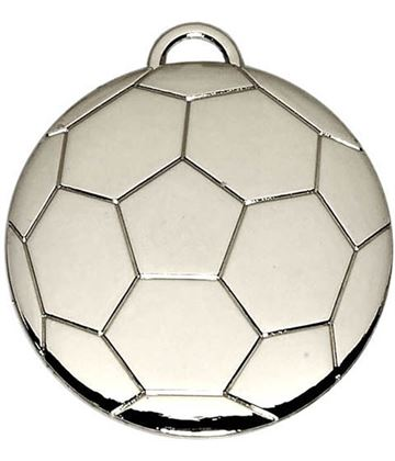 "Silver Football Medal 40mm (1.5"")"