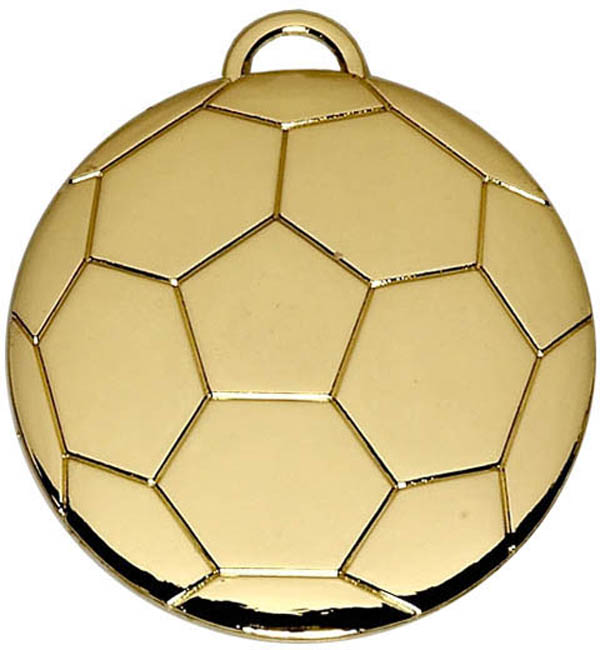 "Gold Football Medal 40mm (1.5"")"